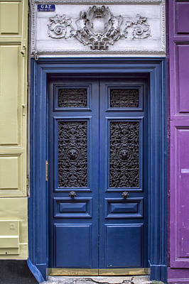 Paris In Blue Fine Art Photograph - Montmartre Blue Two by Georgia Fowler
