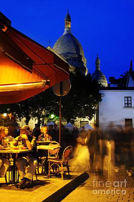 Sacre Coeur Photograph - Montmartre Evening by Colin Woods