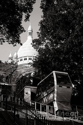 Montmartre Funicular  Art Print by Olivier Le Queinec