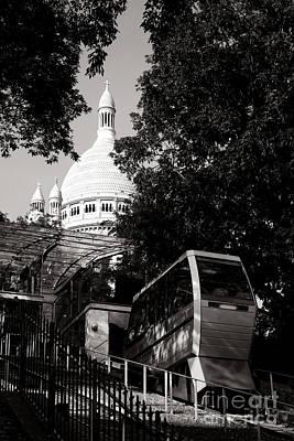 Sacre Coeur Photograph - Montmartre Funicular  by Olivier Le Queinec