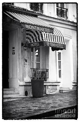 Of Artist Photograph - Montmartre Hotel by John Rizzuto