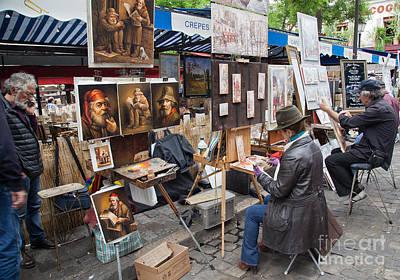 Sacre Coeur Digital Art - Montmartre In Paris by Jovanovic Dragan