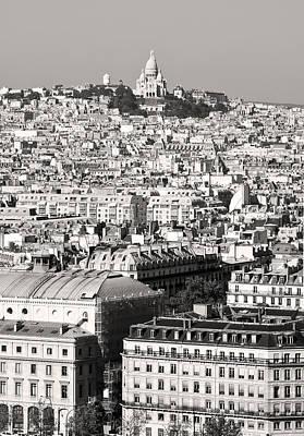 Photograph - Montmartre Paris Black And White by Pierre Leclerc Photography