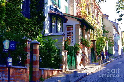 Art Print featuring the photograph Walk In Montmartre  by Jacqueline M Lewis