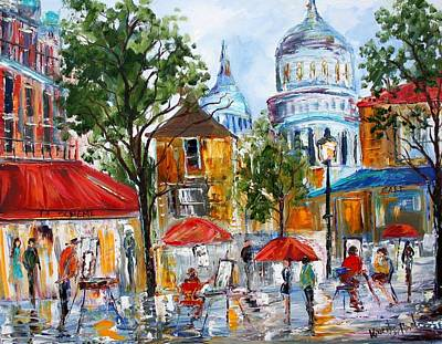 Eiffel Tower Painting - Montmartre Paris by Karen Tarlton