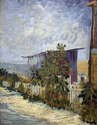 Of Painter Photograph - Montmartre Path With Sunflowers - Van Gogh by Daniel Hagerman
