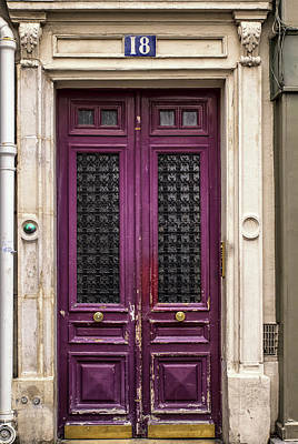 French Door Photograph - Montmartre Pink by Georgia Fowler