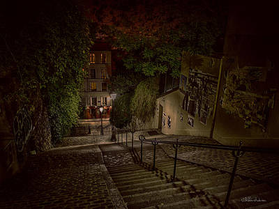 Christmas Cards - Montmartre Stairs by Sheldon Anderson