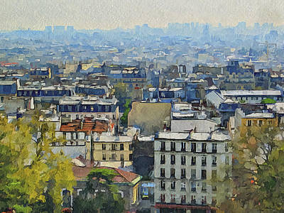 Montmartre View Art Print by Yury Malkov
