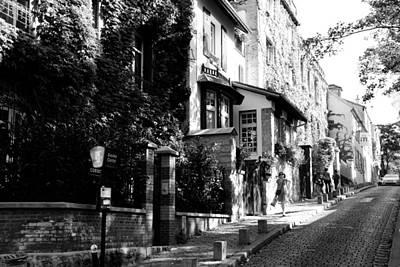 Photograph - Montmartre Walk Bw by Jacqueline M Lewis