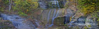 Photograph - Montour Falls Fall Panorama by William Norton