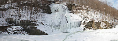 Montour Photograph - Montour Falls Winter Panorama by William Norton