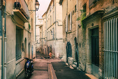 Montpellier - France - Street In The Afternoon Art Print by Vivienne Gucwa