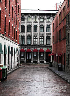 Old Montreal Photograph - Montreal Alley by John Rizzuto