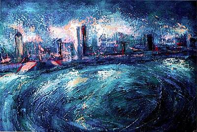 Nuit Painting - Montreal At Night by Ion vincent DAnu