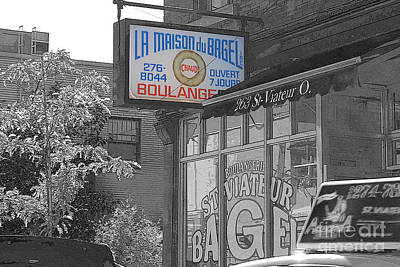 Photograph - Montreal Bagels by Nina Silver