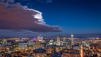 Montreal Landmarks Photograph - Montreal By Night by Mihai Andritoiu