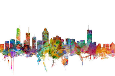 Montreal Digital Art - Montreal Canada Skyline by Michael Tompsett