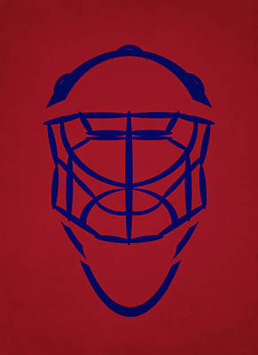 Montreal Canadiens Photograph - Montreal Canadiens Goalie Mask by Joe Hamilton