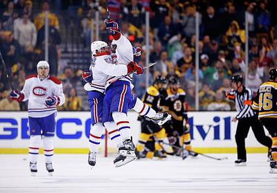Stanley Cup Playoffs Photograph - Montreal Canadiens V Boston Bruins - by Jared Wickerham