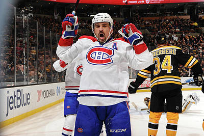 Photograph - Montreal Canadiens V Boston Bruins by Steve Babineau