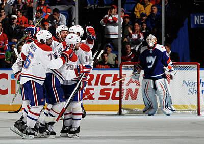 Scoring Photograph - Montreal Canadiens V New York Islanders by Bruce Bennett