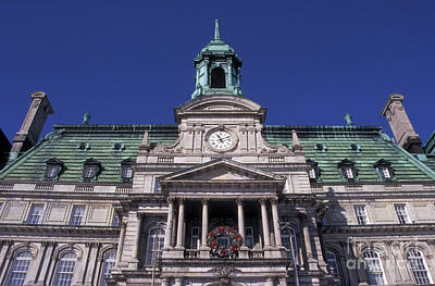 Photograph - Montreal City Hall by John  Mitchell