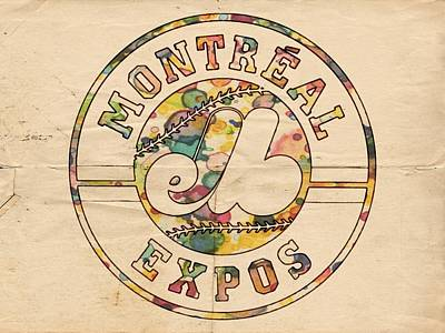 Sport Painting - Montreal Expos Poster Vintage by Florian Rodarte