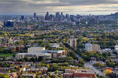 Photograph - Montreal From Olympic Stadium by Pierre Leclerc Photography