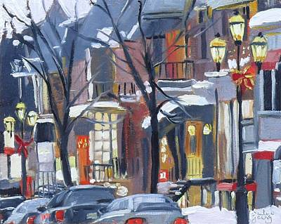 Art Print featuring the painting Montreal Hiver Crescent by Darlene Young