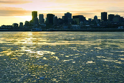 Montreal In Winter Art Print by Isabel Poulin