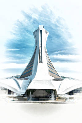 Painting - Olympic Stadium In Montreal by Boris Mordukhayev