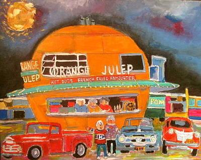 Decarie Strip Painting - Montreal Orange Julep 1963 by Michael Litvack