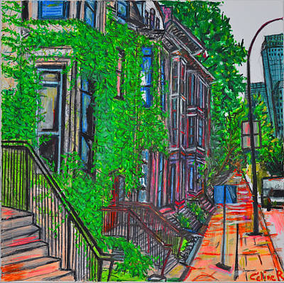 Pastel Painting - Montreal Quebec by Rubino CELINE