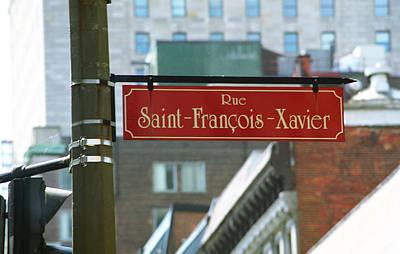 Photograph - Montreal - Rue Saint Francois Xavier by Frank Romeo