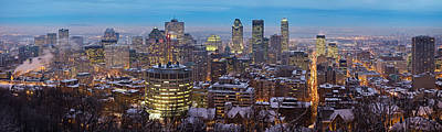 Montreal Skyline Art Print