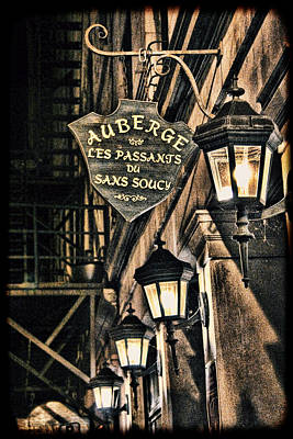 Montreal - Street Lamps Light The Way Art Print by Lee Dos Santos