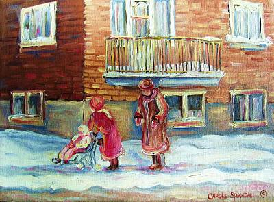 Winter Landscapes Painting - Montreal Winter Scenes by Carole Spandau