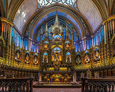Photograph - Montreal's Notre Dame Cathedral by Pierre Leclerc Photography