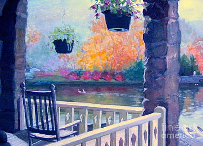 Painting - Montreat Porch by Gretchen Allen