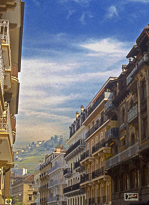 Photograph - Montreaux Street Scene by Stuart Litoff