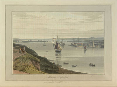 Montrose Port And Harbour In Forfarshire Art Print by British Library