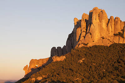 Montserrat At Sunset Art Print by Javier Fores