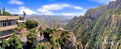 Photograph - Montserrat Barcelona Spain Benedictine Mountain Monk Retreat  by David Zanzinger