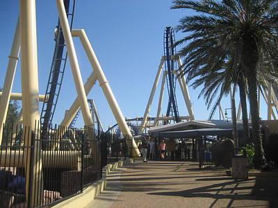 Montu Roller Coaster - Busch Gardens Tampa - 01132 Art Print