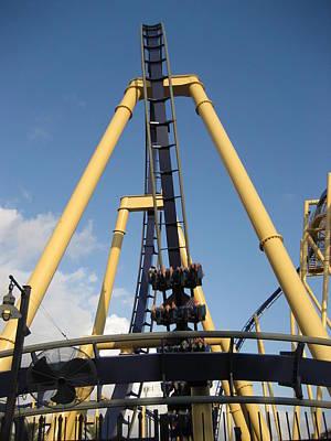 Amusement Photograph - Montu Roller Coaster - Busch Gardens Tampa - 01134 by DC Photographer