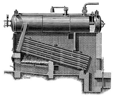 Boiler Photograph - Montupet Boiler by Science Photo Library