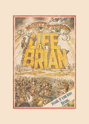 Burmese Python Digital Art - Monty Python - Brian Poster by Brand A