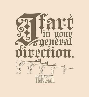 Python Digital Art - Monty Python - I Fart by Brand A