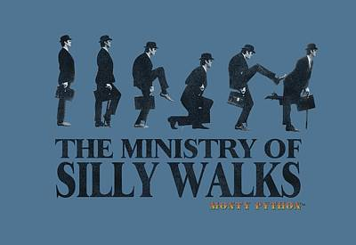 Burmese Python Digital Art - Monty Python - Silly Walk by Brand A